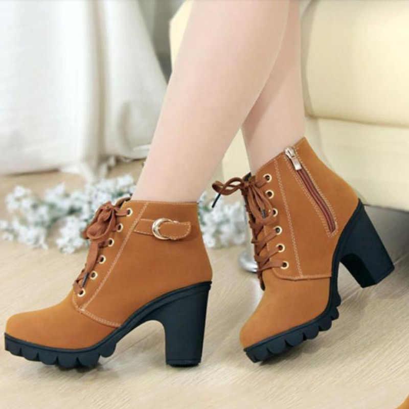 9784696b503 2018 Новые женские сапоги  сезон осень-зима Европейская однотонная женская обувь  высокого качества