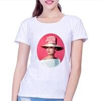 Audrey Hepburn Beautiful Women Fashion Shirts Summer Short Sleeve Fashion Design Tops Brand Comfortable Casual Shirts