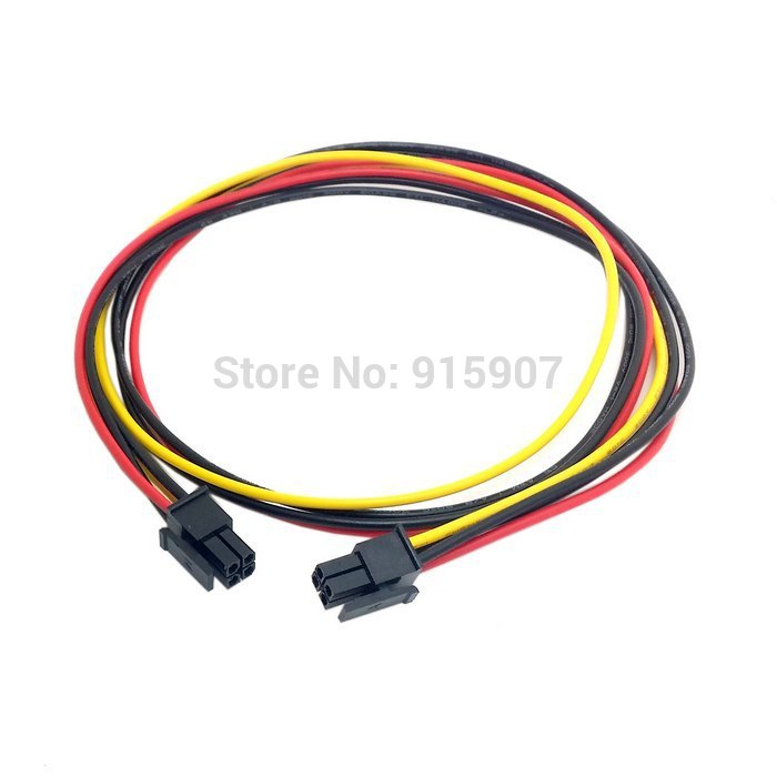 Cablecc CY 60cm <font><b>ATX</b></font> Molex Micro Fit Connector <font><b>4Pin</b></font> Male to Male Power <font><b>Cable</b></font> image