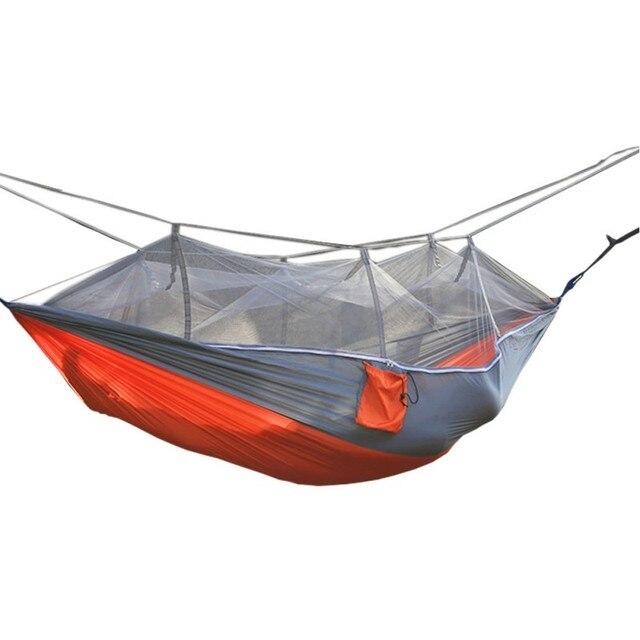 Double Parachute Mosquito Flyknit Hamaca Hamak Rede Garden Swing Camping Amaca Hammock Sleep Hamac Hammock Chair Tourism New