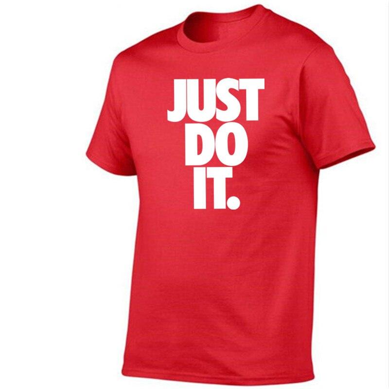 Roliga märkes-t-shirt herrar 2018 Ny mode gör det bara bokstäver - Herrkläder - Foto 3