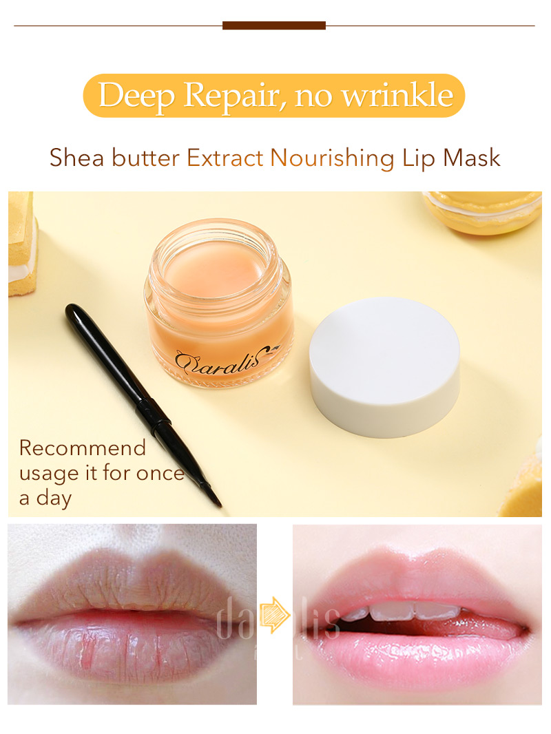 Shea Butter Lip Care Set (Balm Scrub Cream) 8