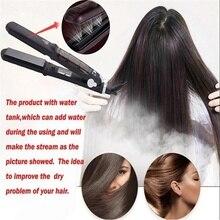 Best Buy Professional 450F Ceramic Vapor Steam Hair Straightener with Argan Oil Infusion Steam Flat Iron Ceramic Vapor Fast Heating Iron