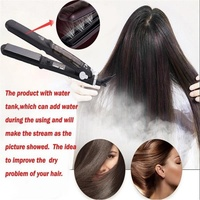 Hair Straightener Ceramic Steam Flat Iron Vapor Plate Wet Dry Led Temperature Control Ferro Hair Iron