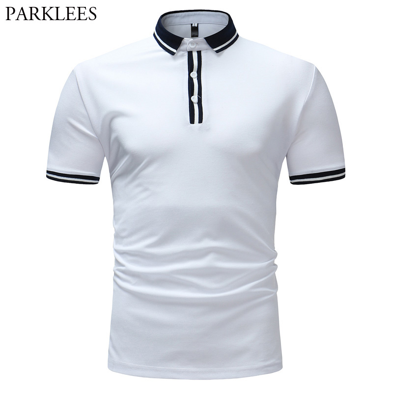 Fashion Brand White   Polo   Shirt Men 2018 Summer New Short Sleeve Camisas   Polo   Homme Casual Slim Fit Breathable   Polos   Para Hombre