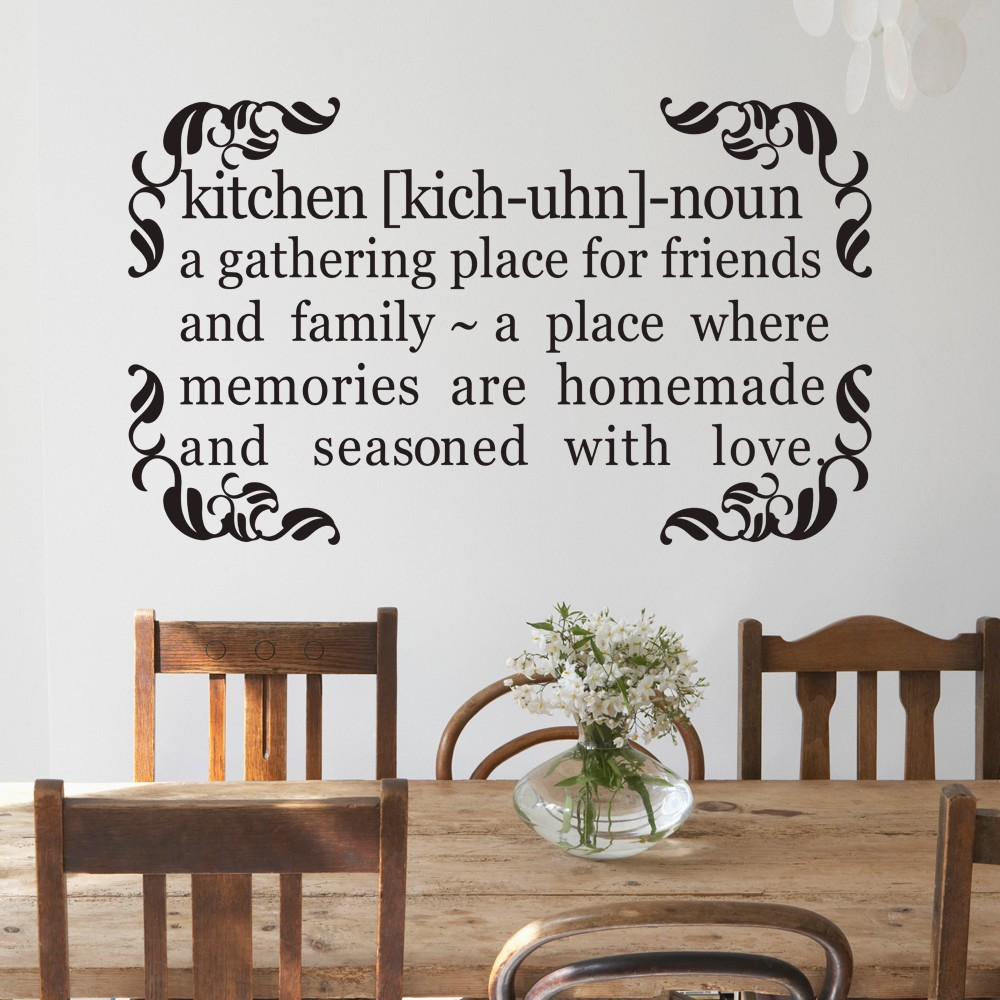 Kitchen Quote Decal A Gathering Place For Friends And Family Home