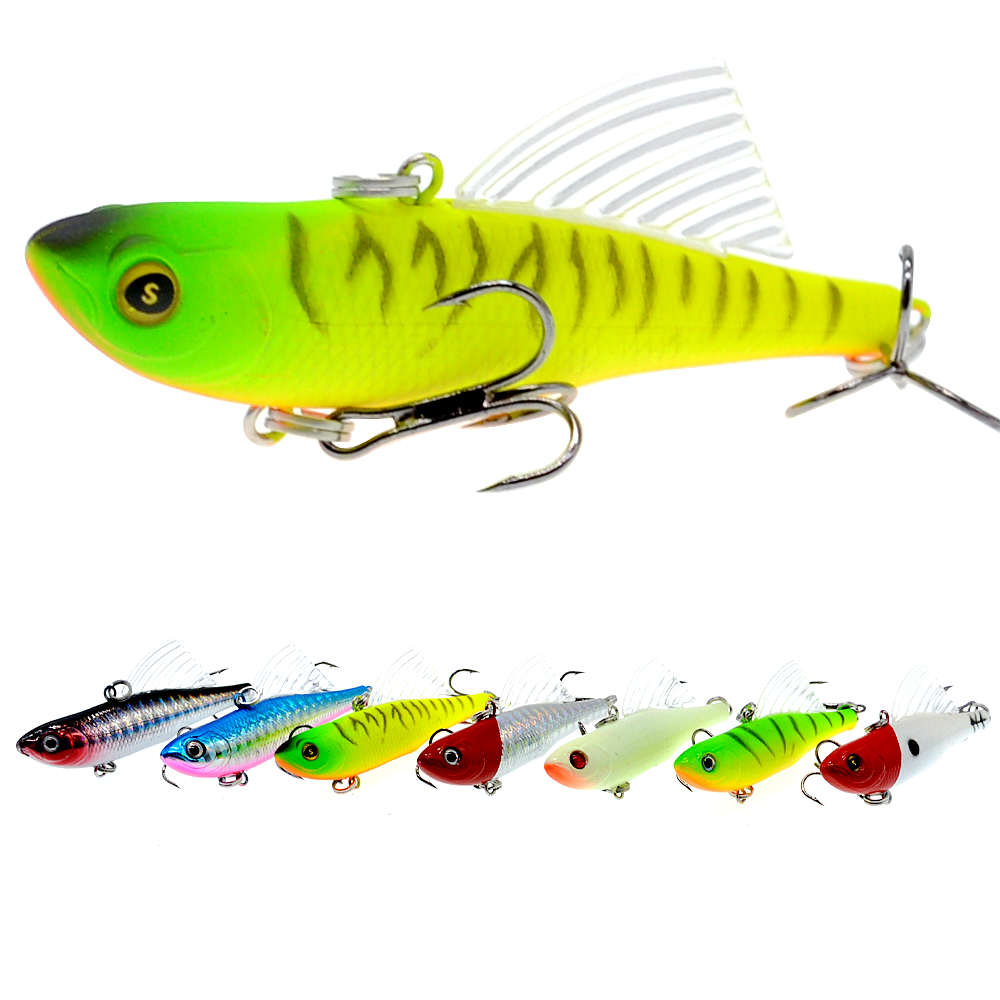 WLDSLURE Sinking Vibration Fishing Lure Hard Plastic Artificial VIB Winter Ice Jigging Pike Bait Tackle Isca Peche-in Fishing Lures from Sports & Entertainment
