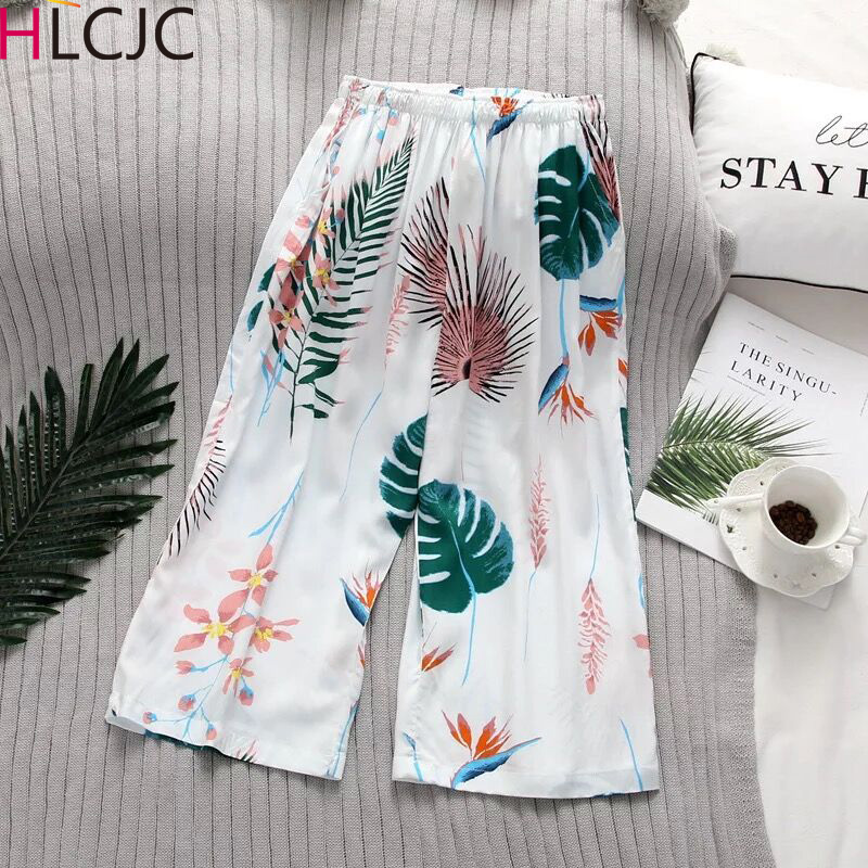 Multi Colors 2019 Spring New Cotton Sleep Bottoms Pajama Pants For Women Summer Ladies Pajamas Natural Floral Lounge Pants