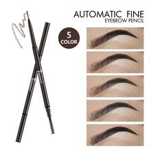 Double Head Eyebrow Pen Waterproof Long Lasting Eyebrow Outline And Filled Eyebrow Pencil for Eyes Makeup
