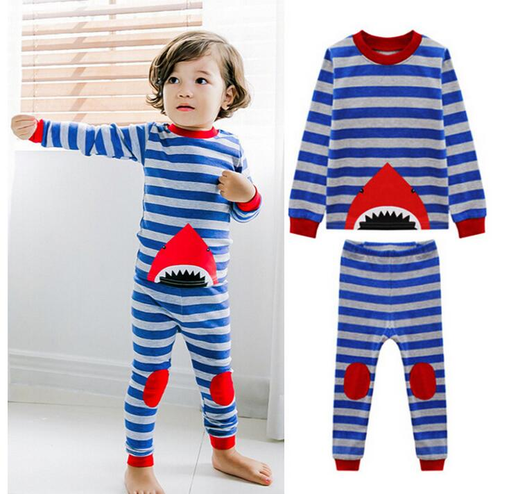 sets lot toddler girls clothing sets long sleeve shark striped  6sets lot toddler girls clothing sets long sleeve shark striped shirt pants boys kids pajamas suit 2 7t sylvia 544502088687 in pajama sets from mother