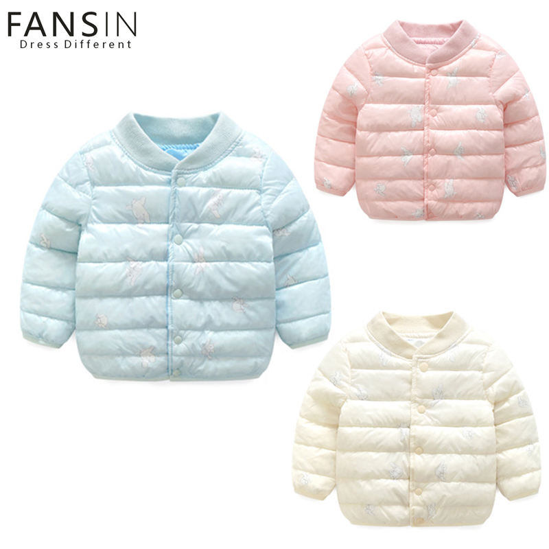 FANSIN Brand Winter Children Outerwear Baby Boys Girls Warm Coat Kids Casual Thick Down Jacket Children Cotton-padded Clothes children winter warm jacket baby down coat outerwear boys girls 90