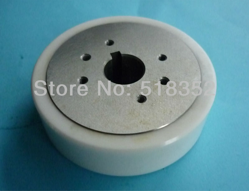 3052991 (3052771) SSG S415 White Ceramic Feed Roller B with Key Hole, for A Series WEDM-LS Wire Cutting Wear Parts sodick s101c sapphire split guide a b id0 155 to 0 31mm for sodick wedm ls wire cutting machine parts