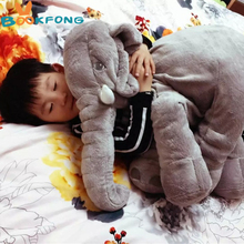 BOOKFONG 1pc Big Size 60cm Infant Soft Appease Elephant Playmate Calm Doll Baby Toys Elephant Pillow Plush Toys Stuffed Doll
