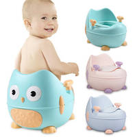 Baby potty toilet bowl training toilet seat children's pot kids bedpan portable urinal comfortable backrest cartoon cute pot