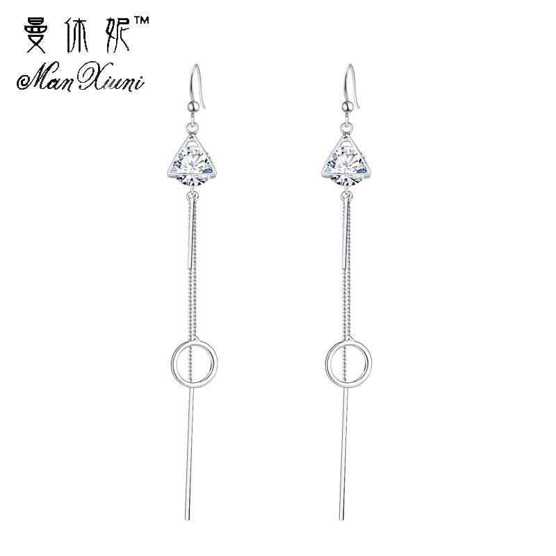 Size of Circle Long Earrings Korean Style Female Simple Geometric Silver bts Earrings for Women and men Fashion Pretty Jewelry