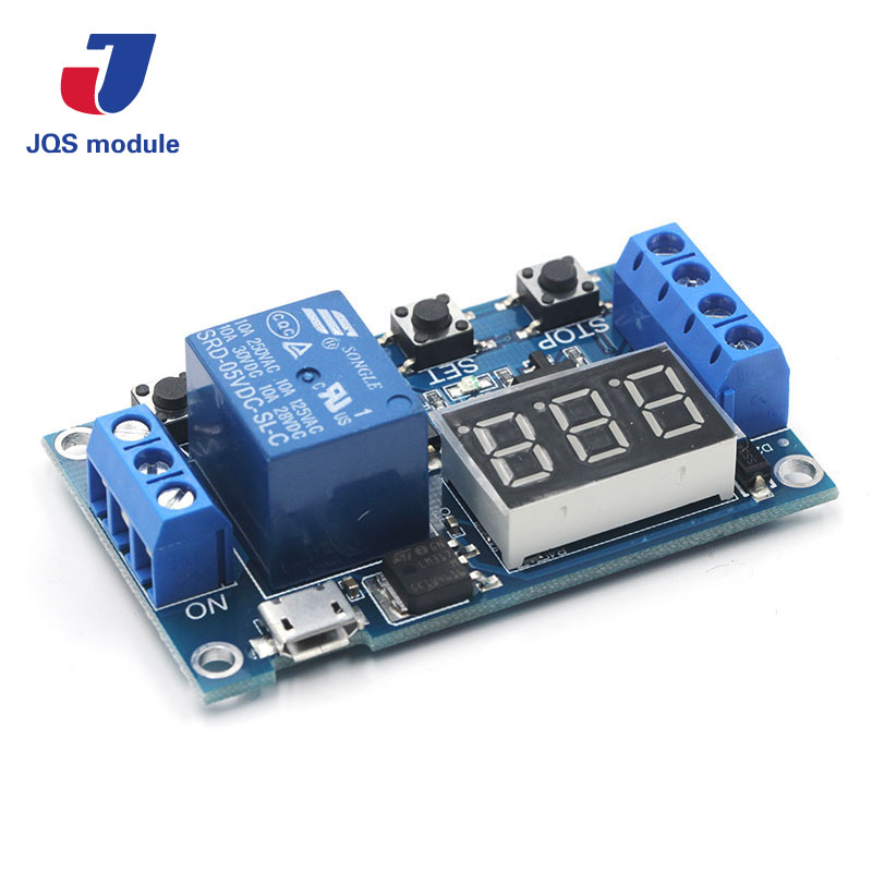 DC 6-30V Support Micro USB 5V LED Display Automation Cycle Delay Timer Control Off Switch Delay Time Relay 6V 9V 12V 24V cycle through off trigger delay power off delay time adjustable 220v relay delay timer switch