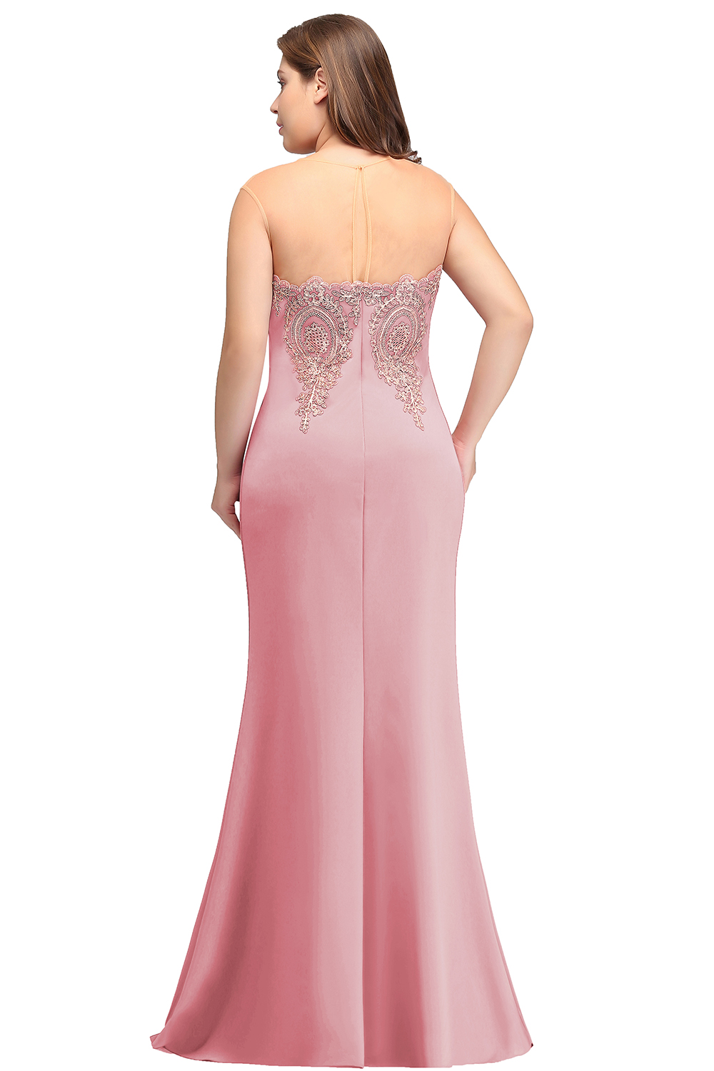 Image 2 - Plus Size Long Evening Dress 2019 Mermaid Formal Dress Party Elegant Evening Gown Sleeveless Applique robe de soiree-in Evening Dresses from Weddings & Events