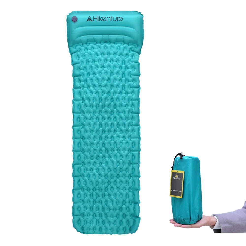Inflatable Sleeping Mat Moistureproof Camping Mat Ultralight Camping Air Mats with Build-In Pillow for Outdoor Hiking ultralight aluminium alloy camping mats