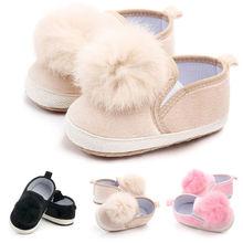 Детская Мягкая Обувь для новорожденных девочек; Нескользящие тапочки для малышей; 3 цвета