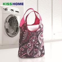 82x60x20cm Super Large Capacity Laundry Bag Multifunction Household Storage Hanging Fashion Print Shopping Eco Polyester