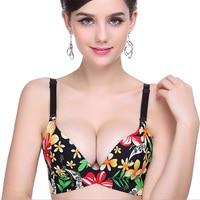 Sexy Lingerie Impression Fleur Soutien-Gorge Push Up Soutien-Gorge 6 Style taille Un ~ C Plus La Taille Marque Designer Femmes de Sous-Vêtements Livraison Gratuite WI310