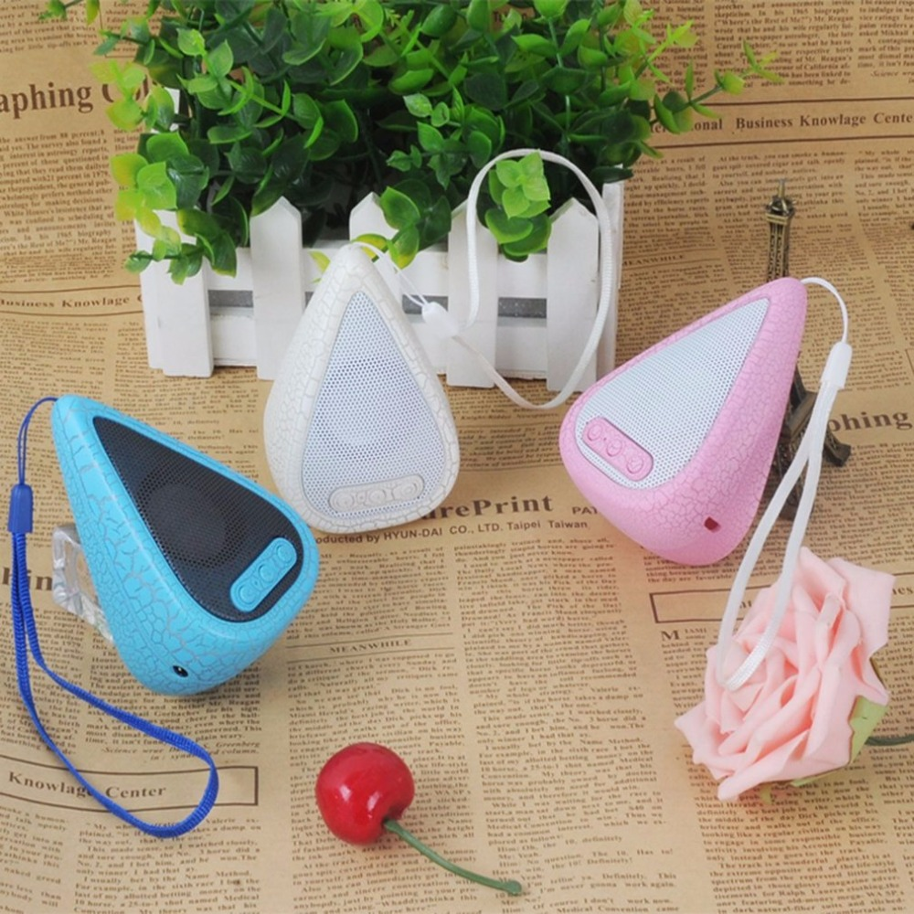 Mini Portable Water Droplet Shape Wireless 7 Colors Crack Bluetooth Speaker Hands-free FM Radio Music Player For Mobile Phone
