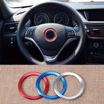 DWCX Car Steering Wheel Center Decoration Ring For logo Cover For BMW 1 3 4 5 7 Series M3 M5 GT3 GT5 X1 X3 X5 X6 2013 2014 2015 image