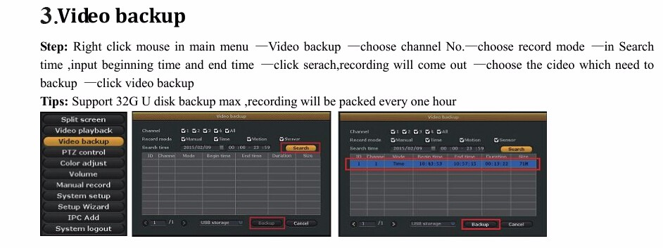 3 video backup