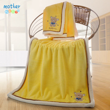 Mother Nest Blanket Thick Baby Sleeping Bed 75*100 cm Yellow