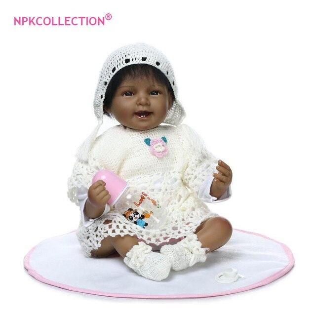 55 cm nativo americano Color de piel negro étnico bebés Reborn ...