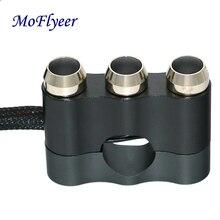 MoFlyeer 7/8 22mm CNC Aluminum Motorcycle Handlebar Control Switch Motorbike Horn Button Electric Start Kill Fog Lamp Light