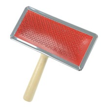 Dog Grooming Comb Wooden Handle