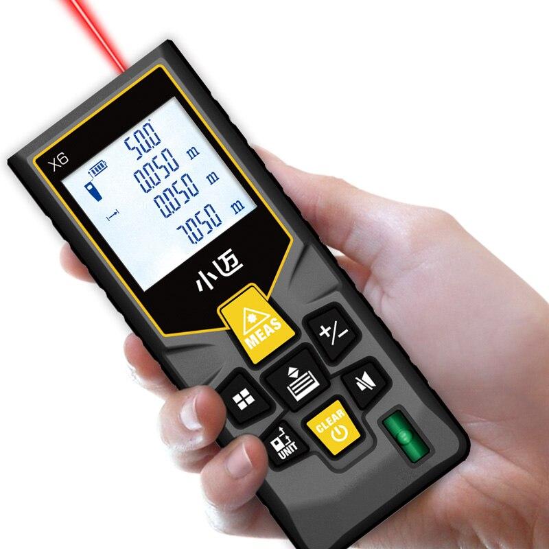 Mileseey medidor de distancia láser electrónica ruleta láser Cinta digital telémetro trena metro láser telémetro cinta de medición