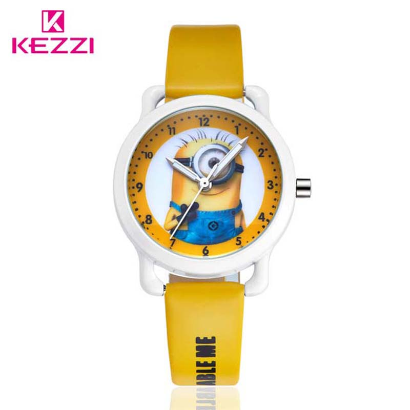 New Arrive children leather strap Cartoon watch style ...