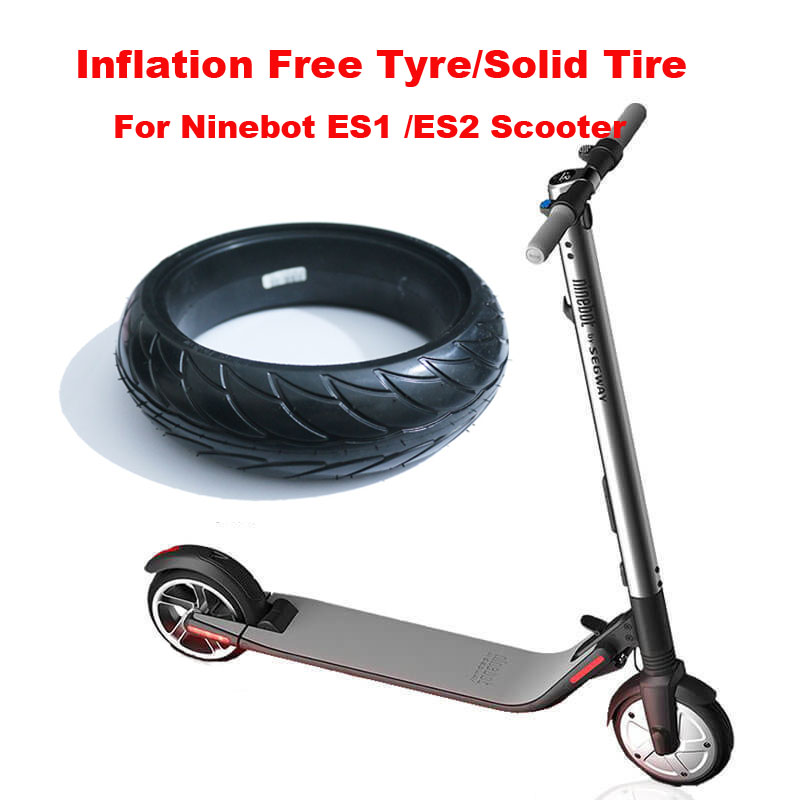 US $36 66 6% OFF|Ninebot Electric Scooter Tire Tubeless 8*2 125 Solid Tyre  Inflation Free Shock Absoption Tire for Electric Scooter ES1 / ES2-in Self