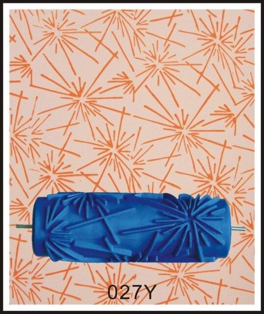 Livraison Gratuite 5 Pouce Bleu En Caoutchouc Décoration Murale Peinture  Rouleau, Mural Décoratif Rouleau De