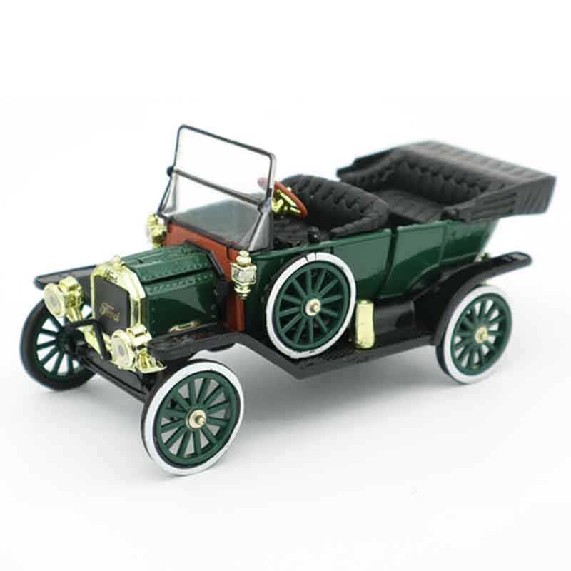 1/32 Vintage Alloy  Ford T Type Dark Green Collection Model Toy Cars Diecast Retro Classic Car Toys For Adults