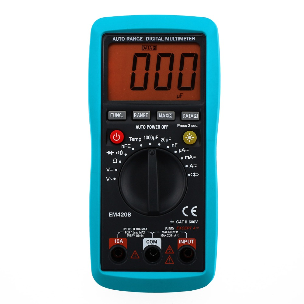 all-sun Digital Multimeter Diode Transistor Battery Tester AC/DC Ammeter Voltmeter Ohm Portable Meter voltage meter EM420B