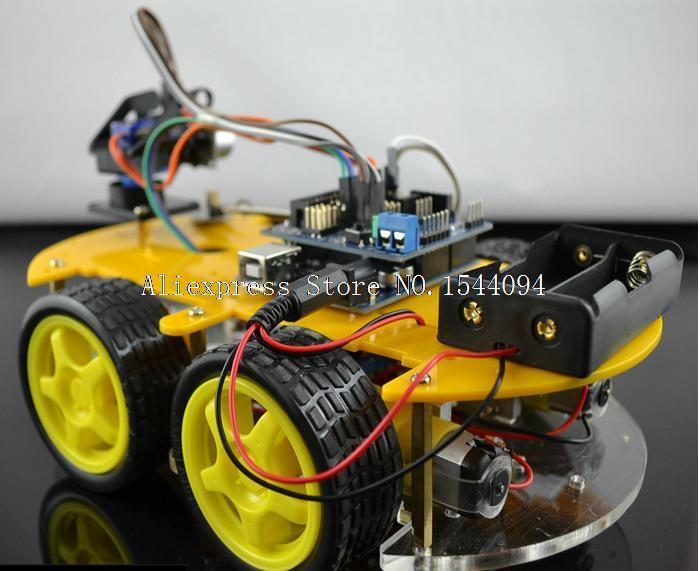 UNO Robot Car Kit Bluetooth Chassis Suit Tracking Compatible UNO R3 DIY RC Electronic Toy Robot