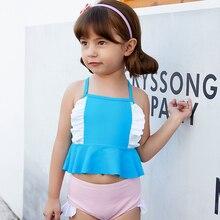Купальный костюм для маленьких девочек, детский купальник-бикини, детский купальный костюм из двух предметов, красивый женский пляжный костюм