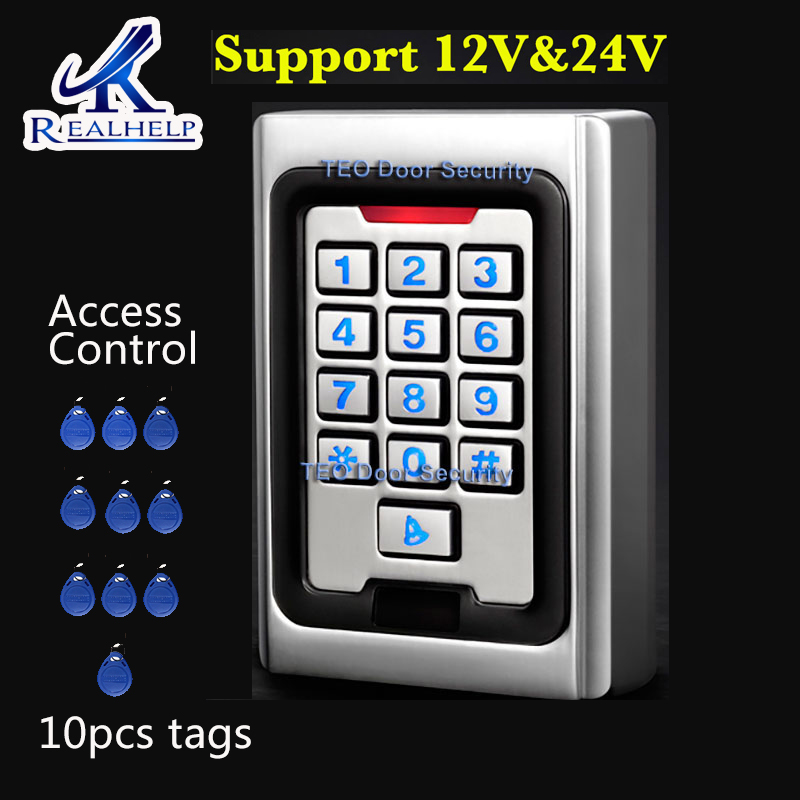 2000 Users RFID Access Control System With Backlight Keypad Metal 125khz Card Reader Outdoor 9 To 28 Wiegand 26