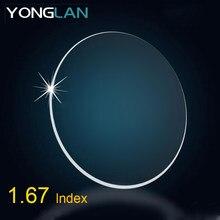 ca53d7181 Yong Lan 1.67 1.74 1.56 Índice de 1.61 Lentes de Óculos de Miopia  Astigmatismo Lente Clara