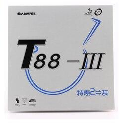 Wholesales link - (10 Red + 10 Black) SANWEI T88 III (T88-3) Table Tennis Rubber (Half-sticky, loop) Ping Pong Sponge