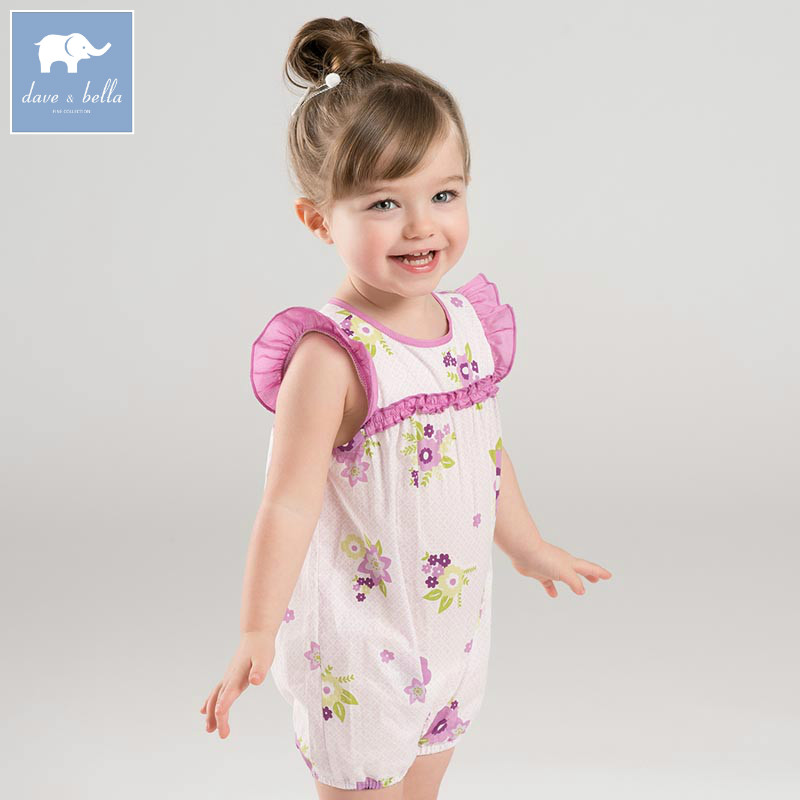 DBA6653 dave bella summer baby girls new born cotton romper infant clothes cute children romper baby 1 pieceDBA6653 dave bella summer baby girls new born cotton romper infant clothes cute children romper baby 1 piece