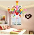 Детская комната 3/5/6/8 голов для гостиной хрустальная люстра для спальни для свадебной комнаты Декоративные домашние теплые лампы для девоче...