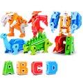 A-Z трансформация животных игрушки подарок динозавр строительные блоки Алфавит робот игрушки Дети DIY Развивающие Кирпичи игрушки для детей