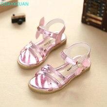 Glitter Girls Princess Sandals 2018 New Summer Brand Bowtie Children Princess Shoes Kids Party Shoe for Girls Sandals EU 27~37