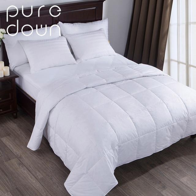 Puredown Comfort Bedding Lightweight 75 Down Comforter Duvet Insert 100 Cotton 550 Fill