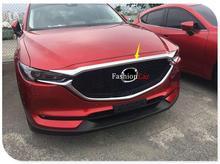 Для Mazda CX-5 2017 ABS Хром Передняя Двигатели для автомобиля крышка капота Стикеры Отделка 1 шт. Тюнинг автомобилей аксессуары