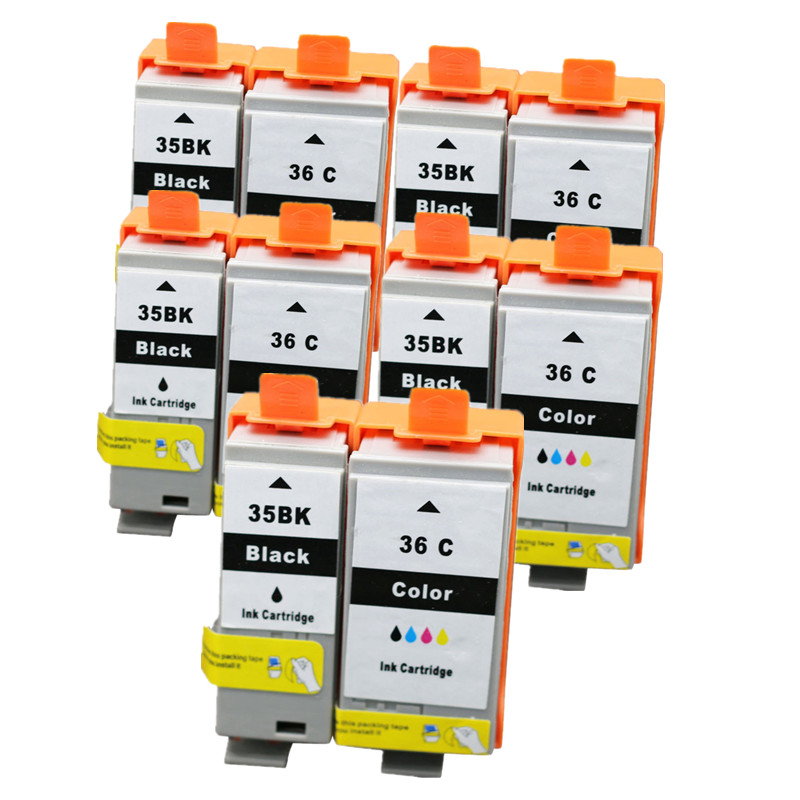 PGI 35 CLI 36 Ink Cartridges Compatible for Canon Printers PIXMA IP100B IP100 with battery Mini 260 320 Cartridge With Chip